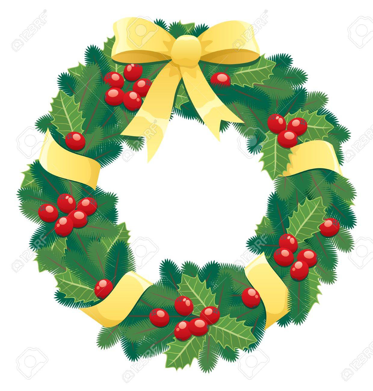 Christmas Wreath Images Free.A Christmas Wreath No Transparency Used Basic Linear Gradients