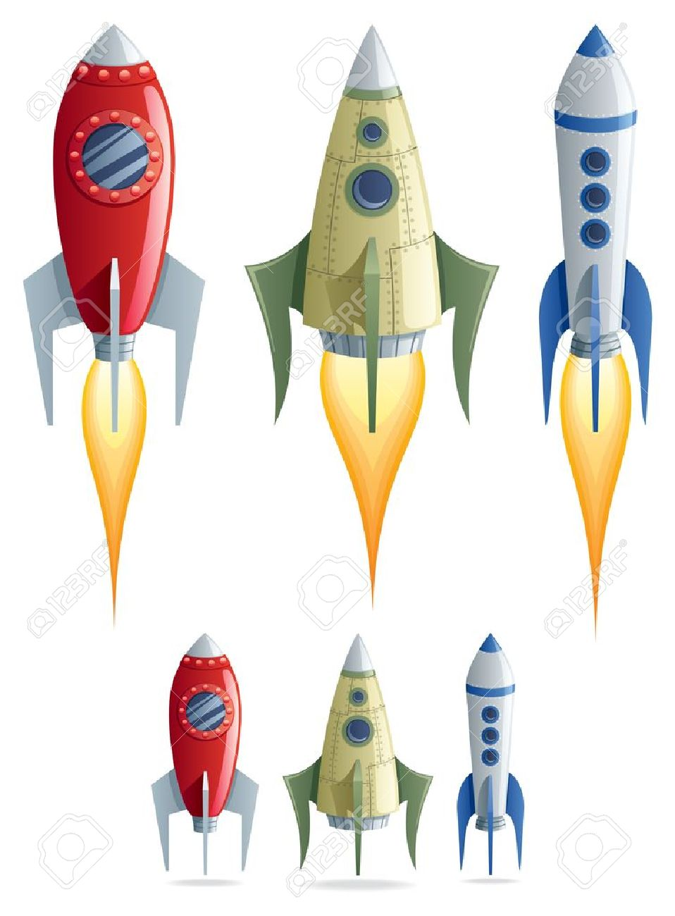 http://previews.123rf.com/images/malchev/malchev1110/malchev111000001/10826592-Set-of-3-cartoon-rockets-in-2-versions-No-transparency-used--Stock-Photo.jpg