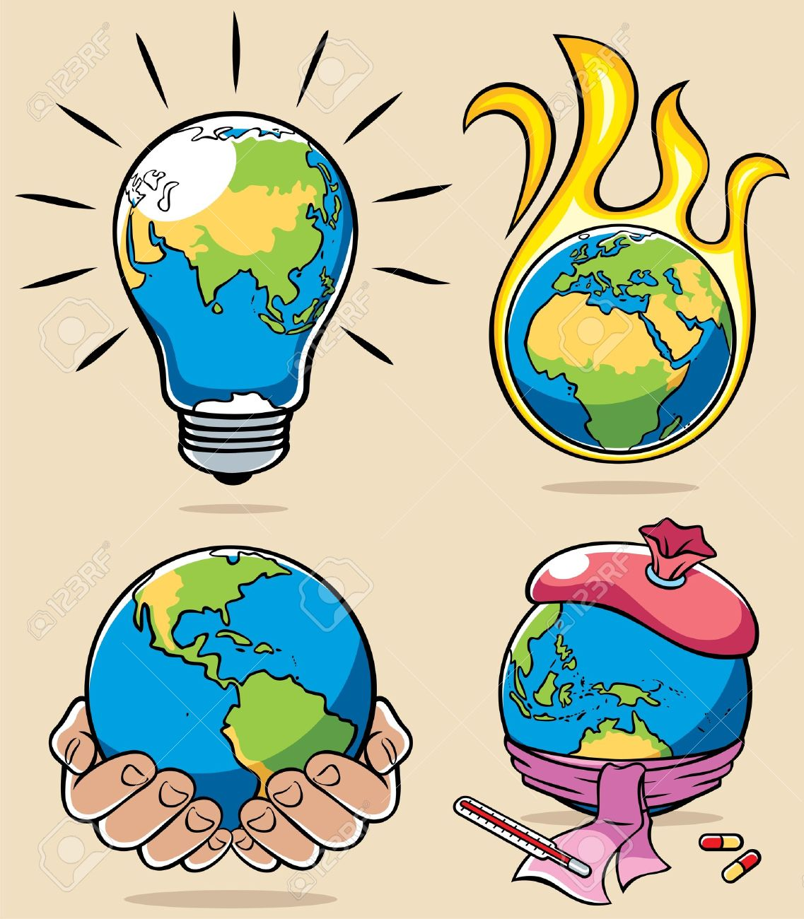 7,657 Global Warming Concept Cliparts, Stock Vector And Royalty ...