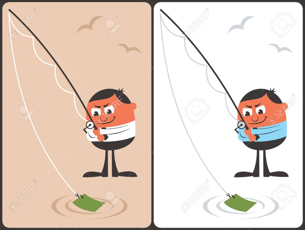 Businessman Fishing Concept Stock Vector - 17204328