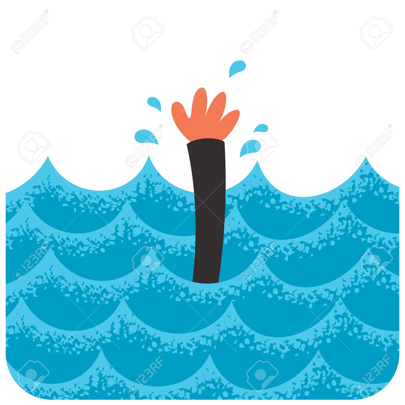 cartoon illustration of drowning man royalty free cliparts vectors rh 123rf com drowning clipart free drowning clipart black and white