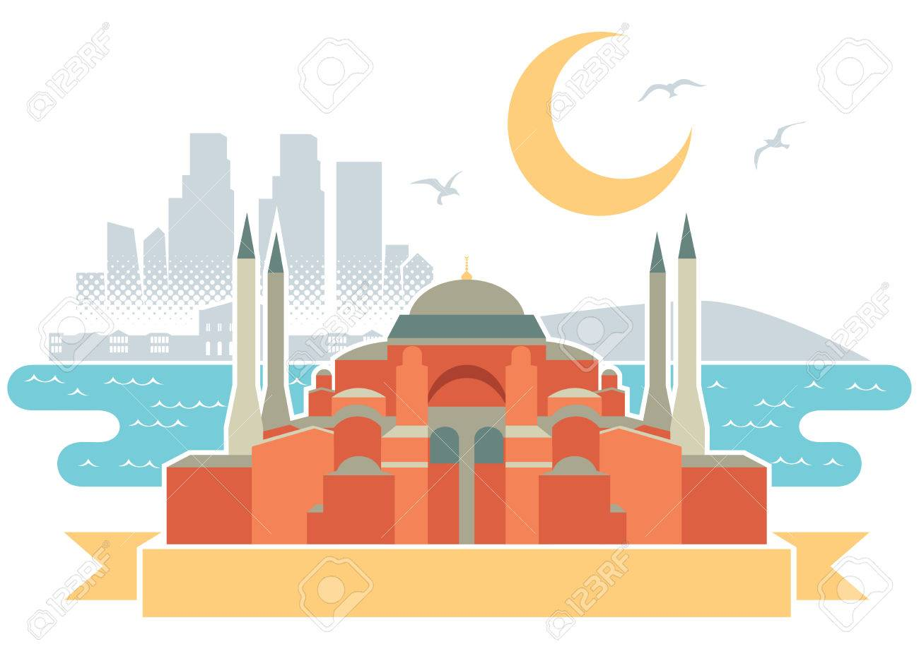 Simple Illustration Of Istanbul Stock Vector