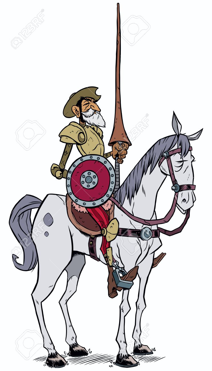 Image result for image cartoon don quixote