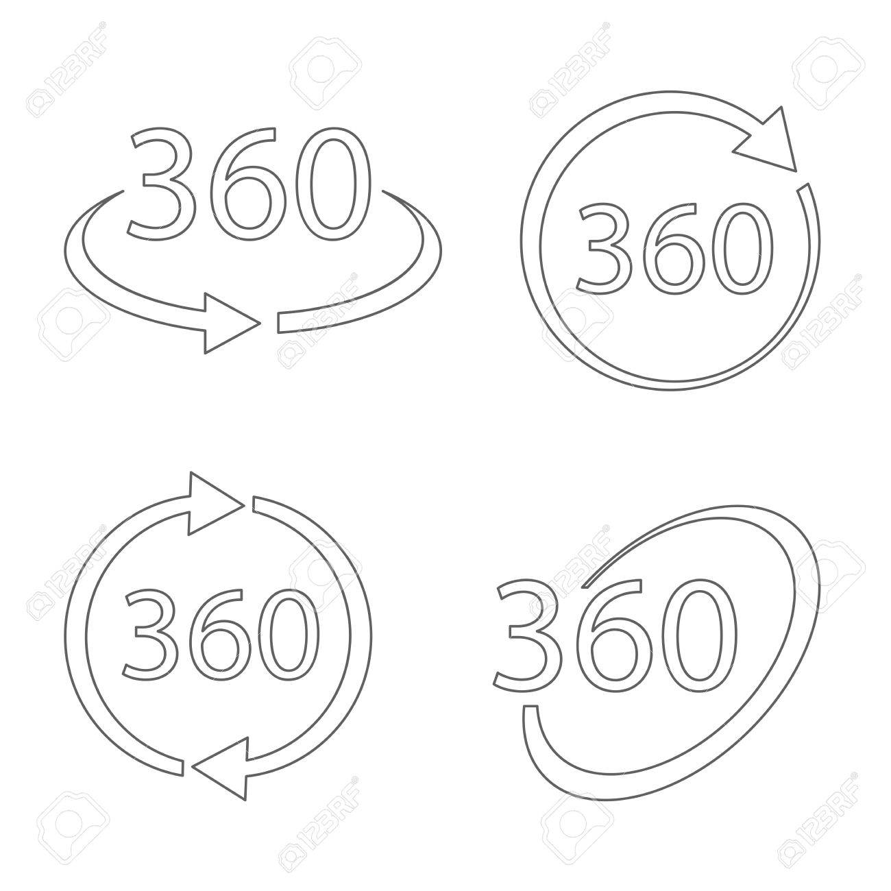 Simple set of 360 degree view related vector icons in thin line simple set of 360 degree view related vector icons in thin line style geometry math biocorpaavc Choice Image