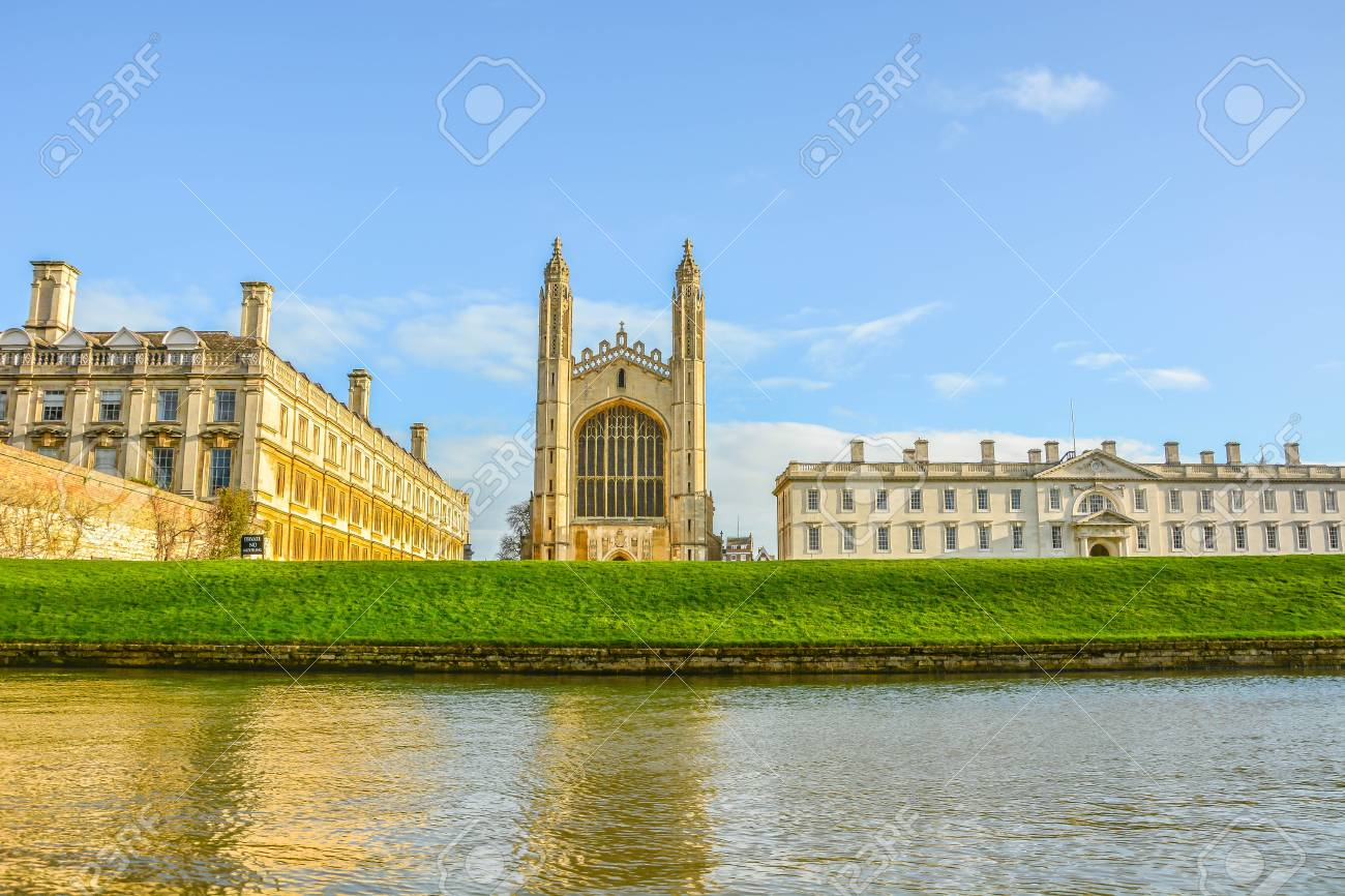 Elegant view of Cambridge University, King College Chapel and