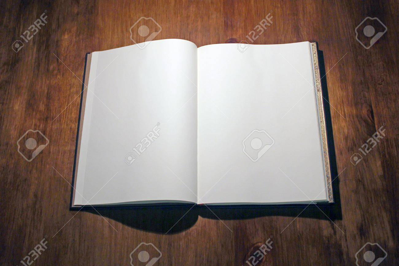 Open book on white - 18440047
