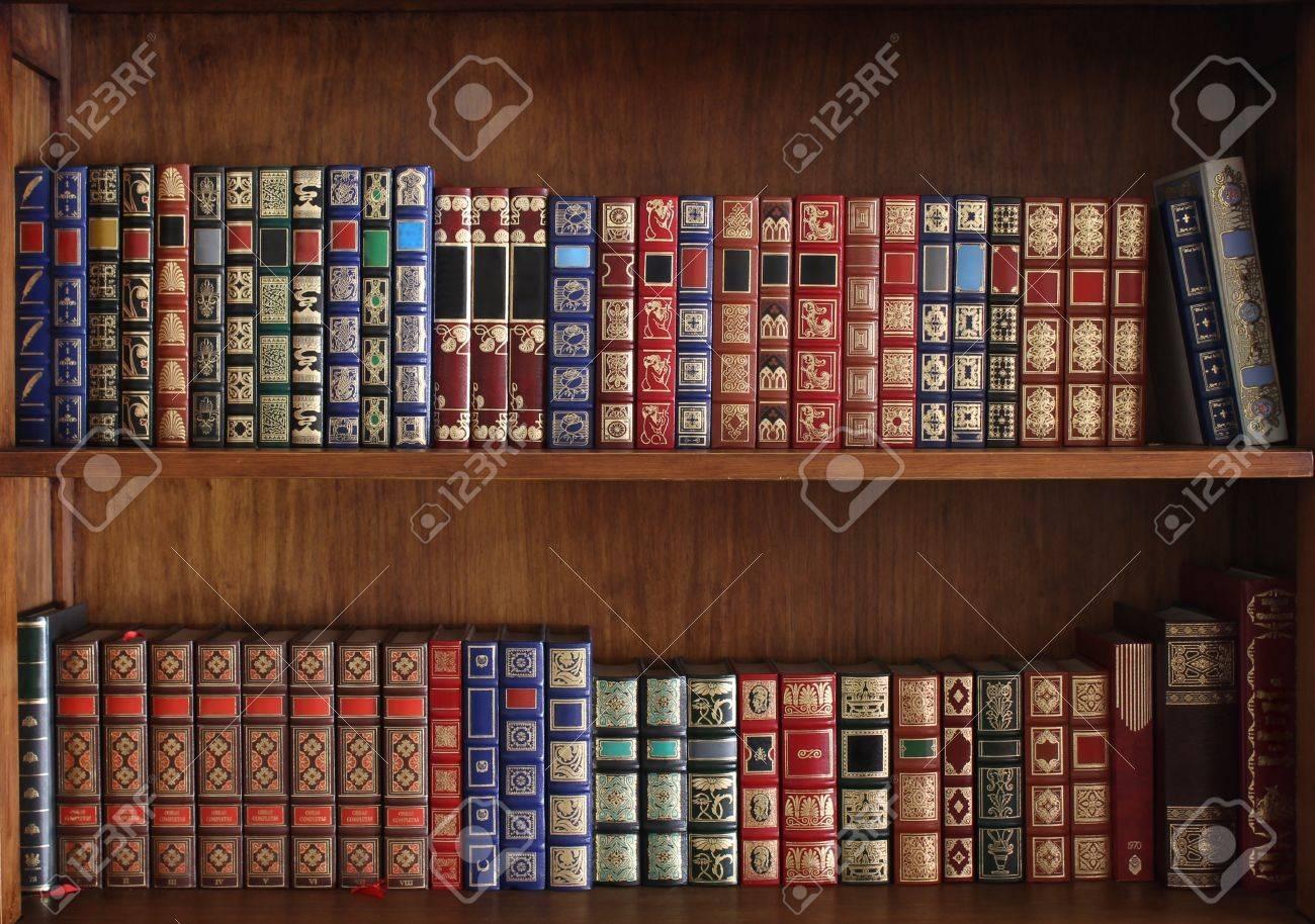 Shelves full of books - 18435124