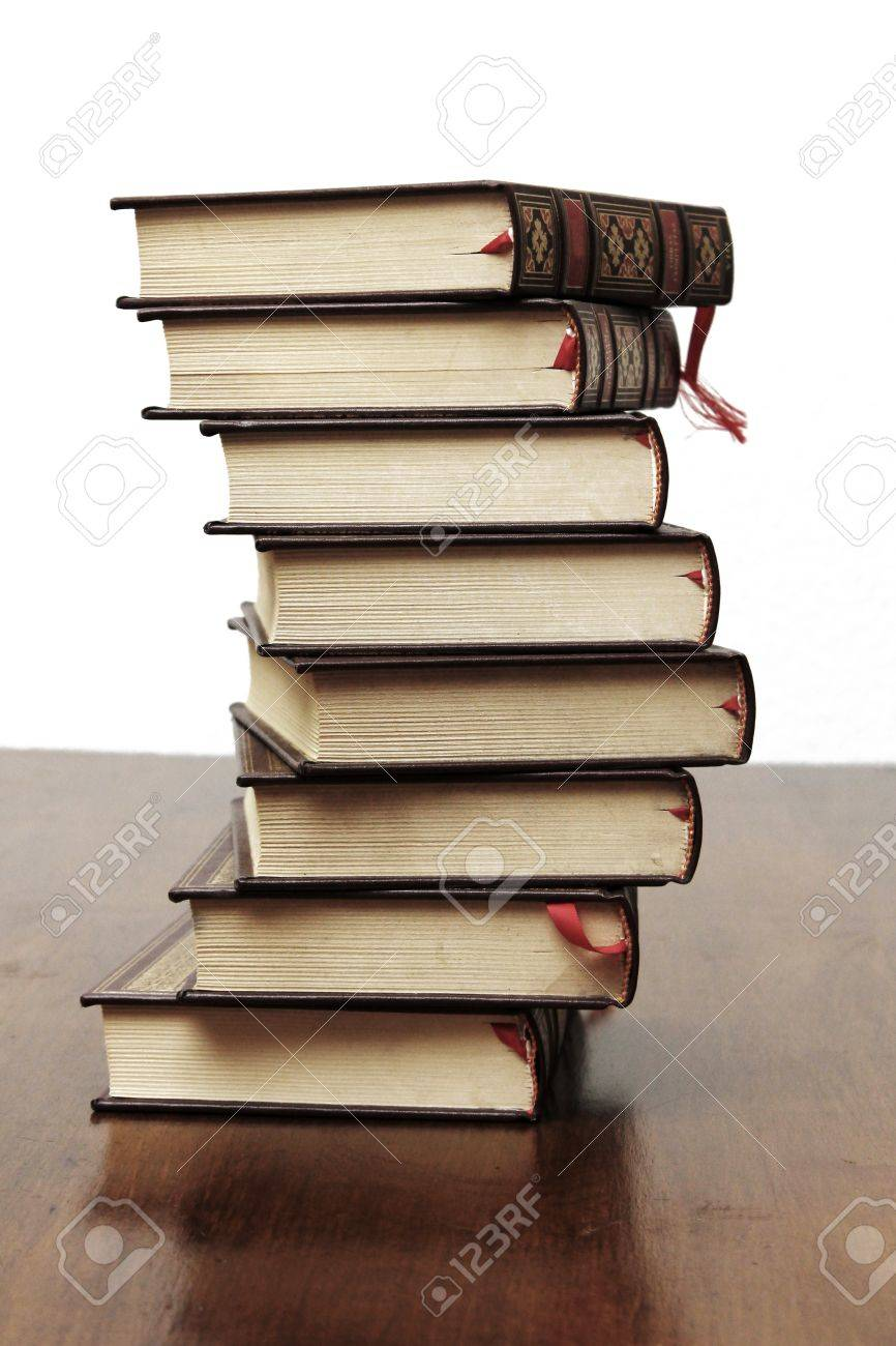 Books stacked - 18440037
