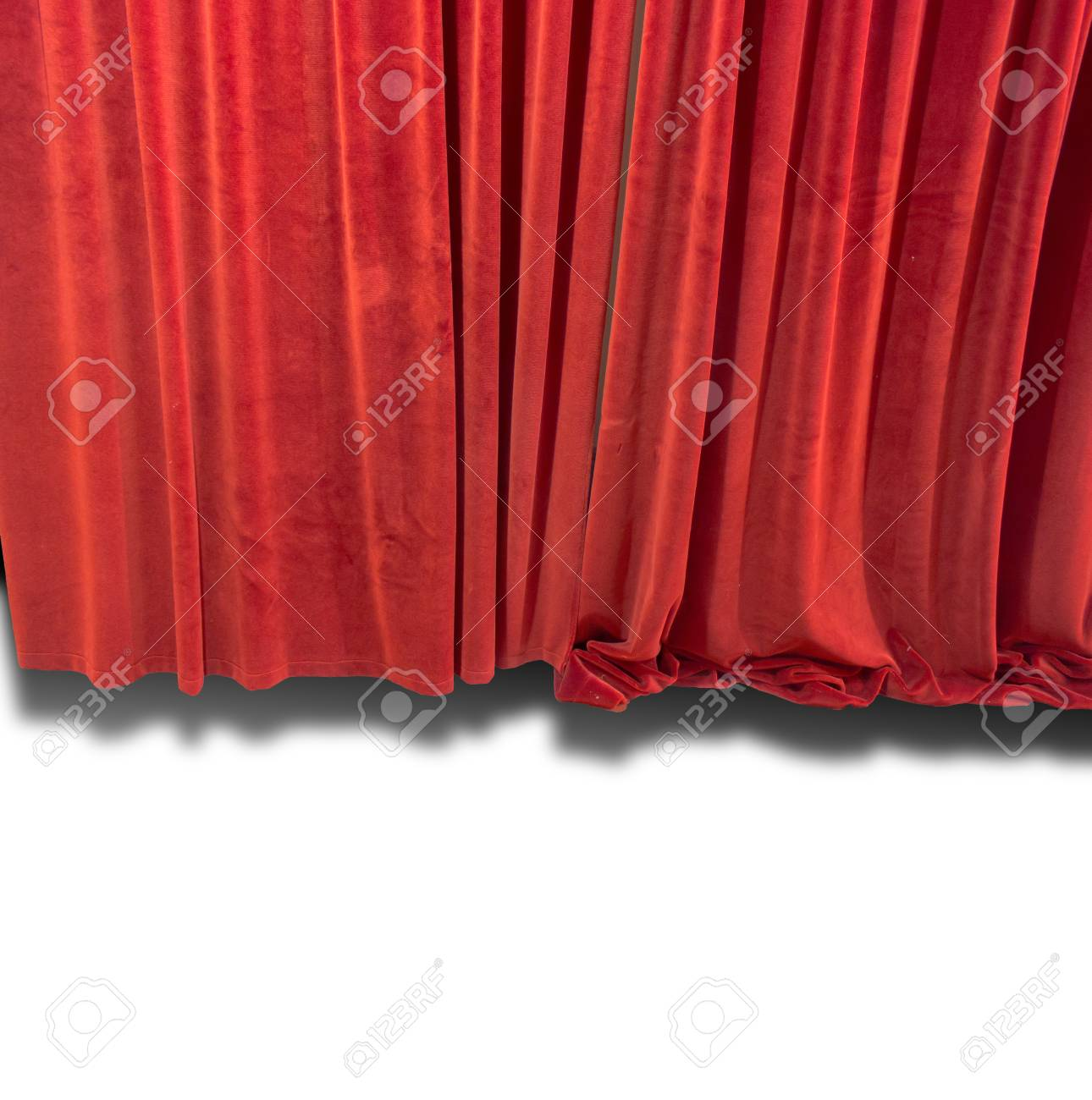 Red Curtain isolated - 20615162