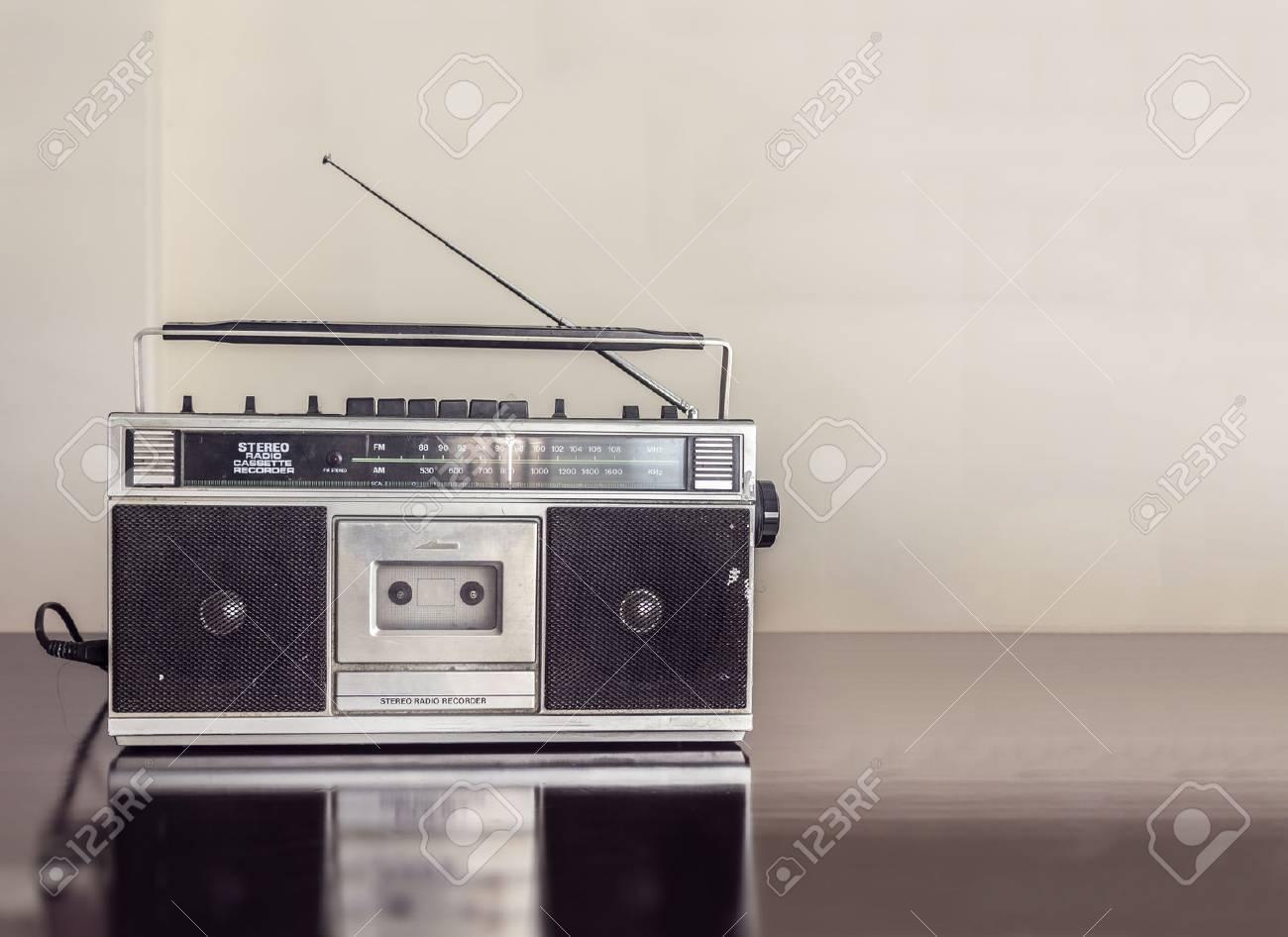 Retro Radio Cassette - 43344076