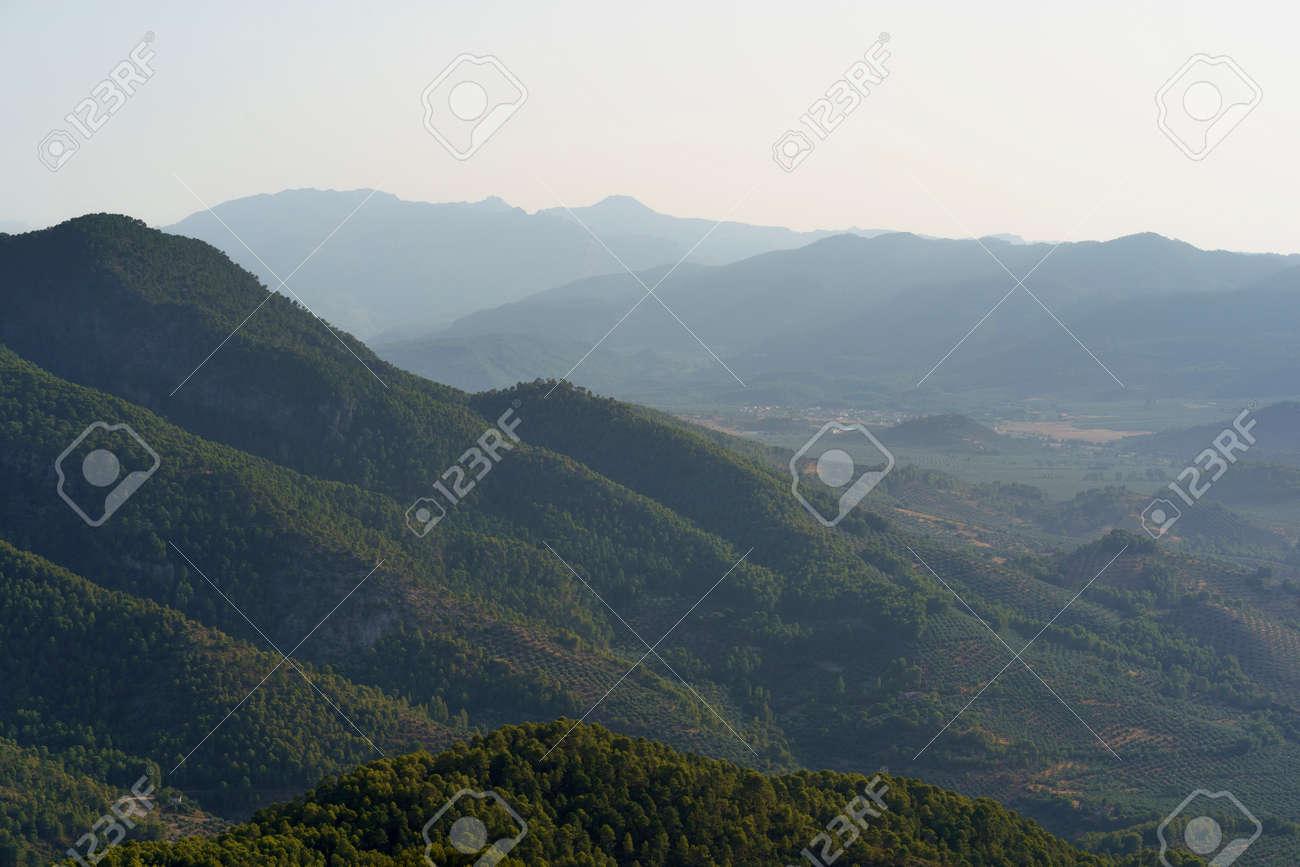 "Mountains landscape in the natural park of ""Cazorla, Segura y Las Villas"" in the province of Jaen - Spain - 162988341"