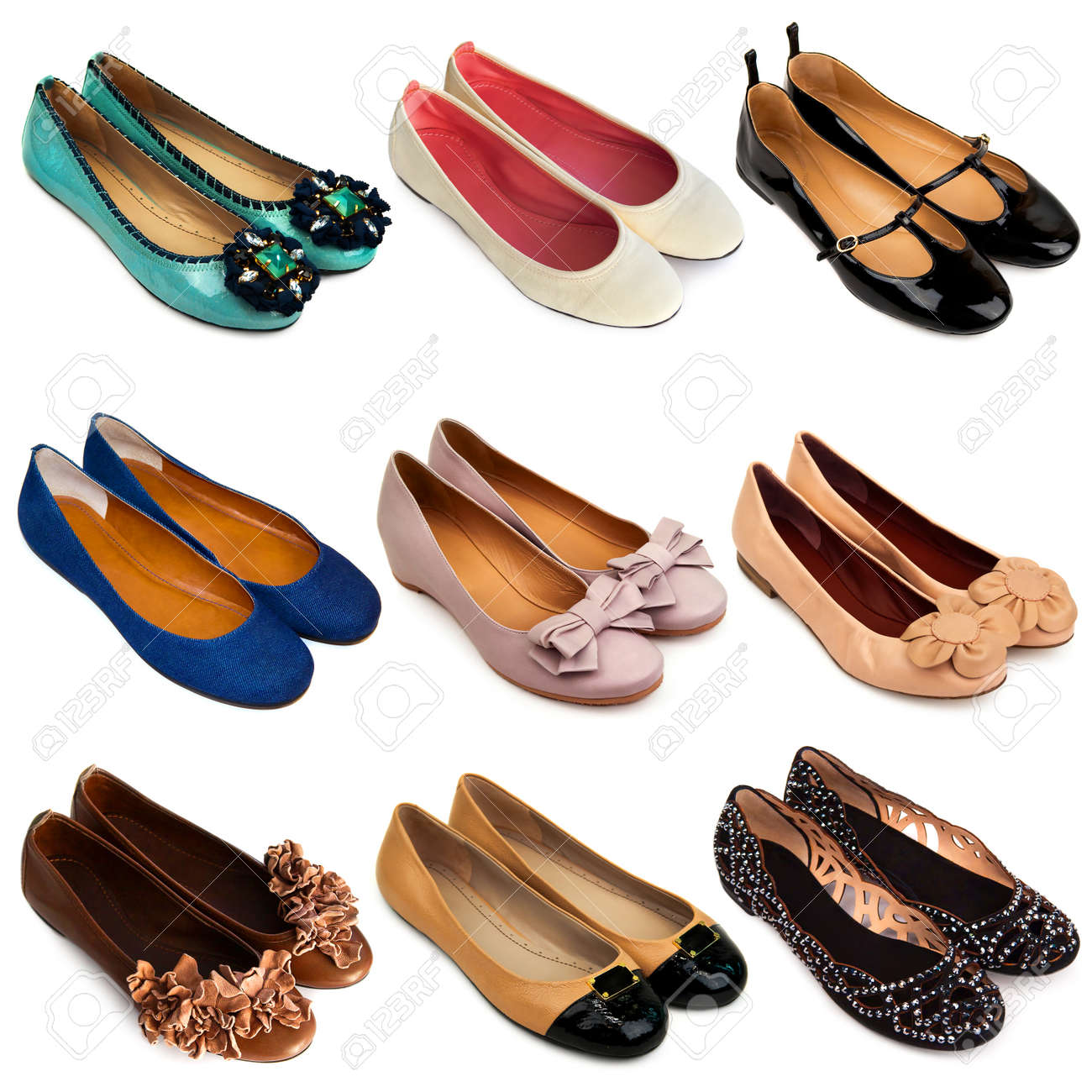 Multicolored,female Ballet Flat Shoes
