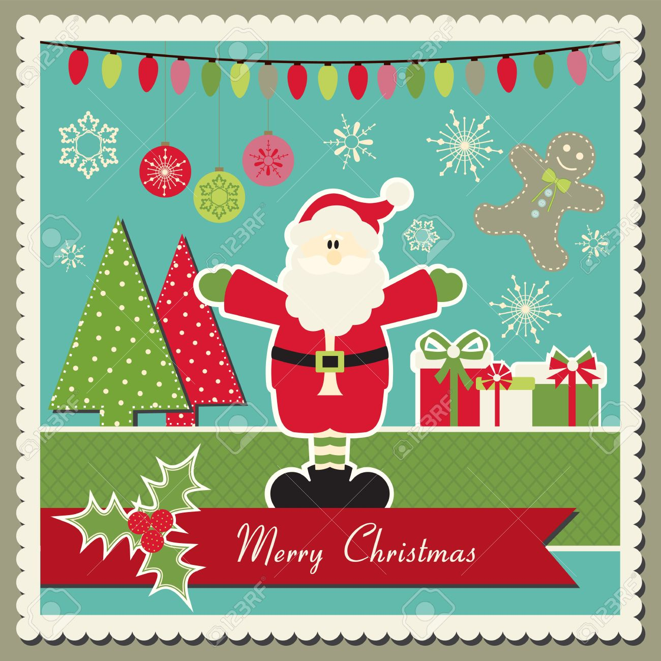 How to scrapbook christmas cards