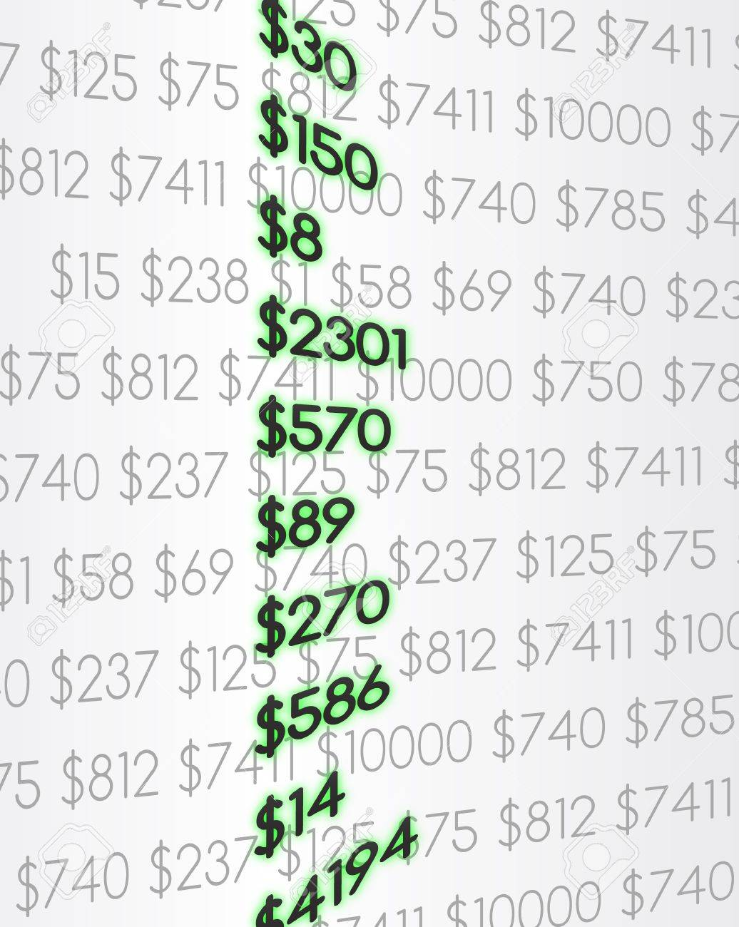 Economic numbers Stock Vector - 16526579