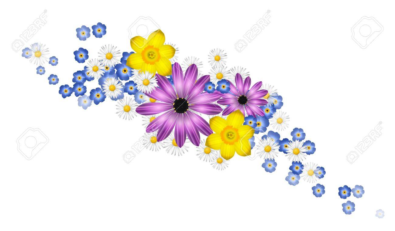 spring flowers royalty free cliparts vectors and stock