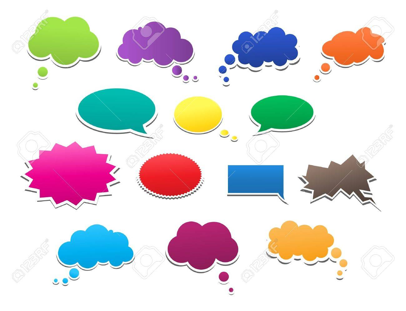 Speech Bubbles Stock Vector - 18725735