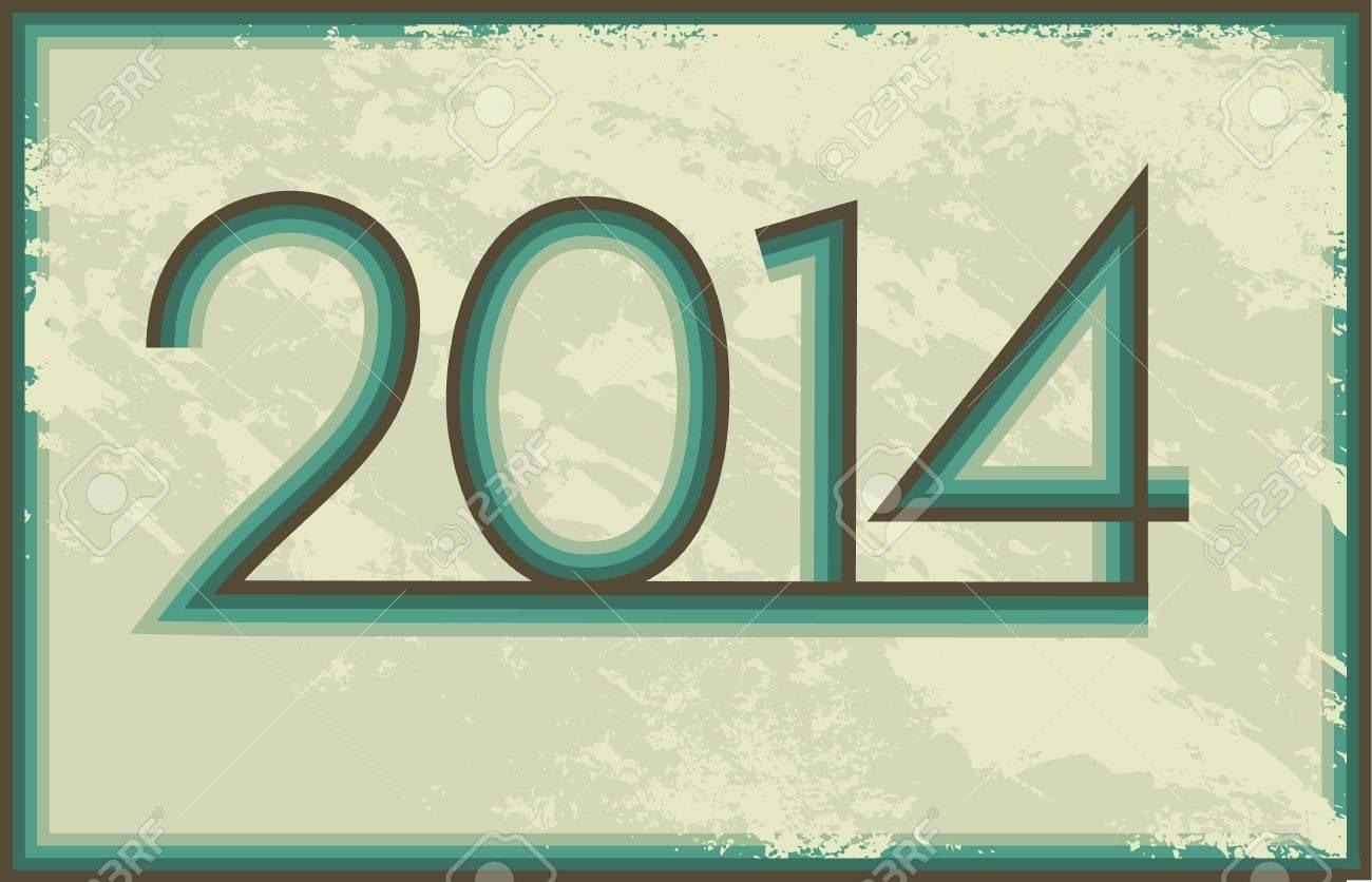 2014 year Stock Vector - 19933550