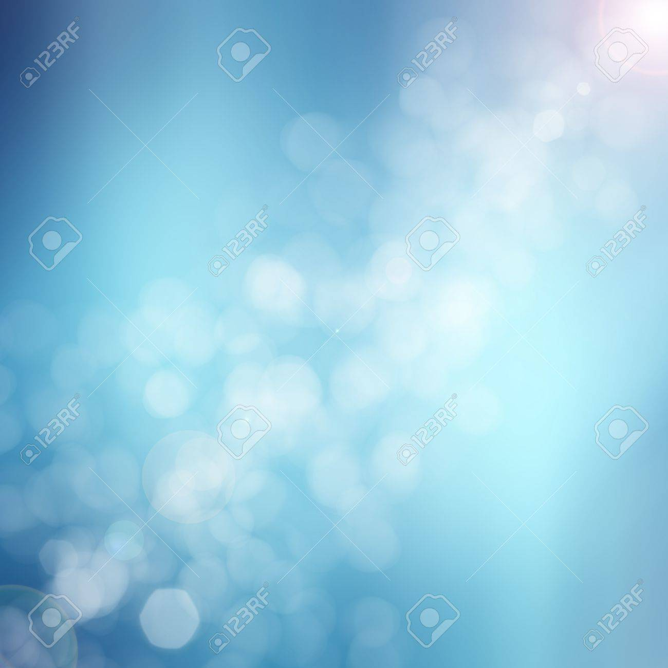 blue abstract light background Stock Photo - 19684896