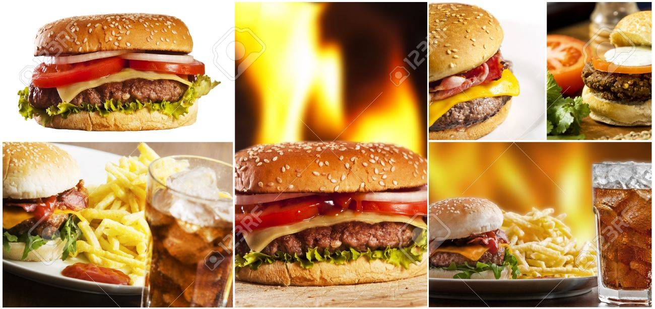 hamburger collage several burgers stock photo picture and hamburger collage several burgers stock photo 5076909