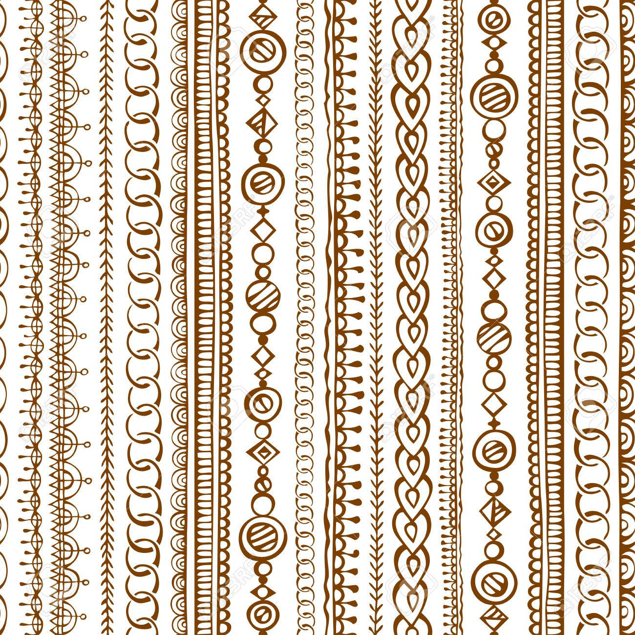 Seamless doodles ethnic pattern. hand-drawn boundless texture Stock Vector - 44256883