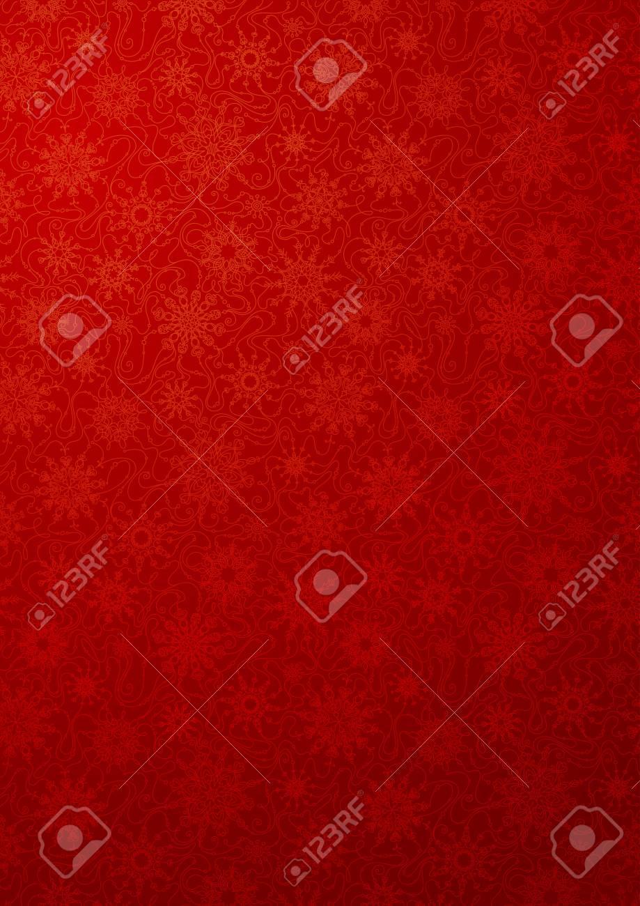rote tapete mit schneeflocken muster mit verzierten schneeflocken fr ihr design standard bild - Tapete Rot Muster
