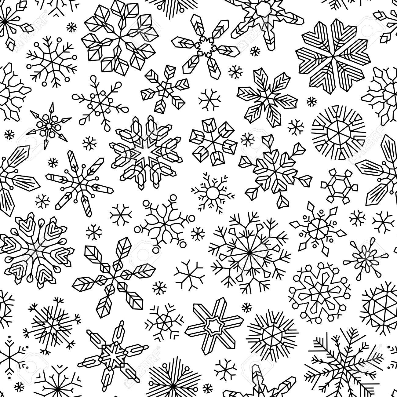 Fototapete Nahtlose Schneeflocken Muster