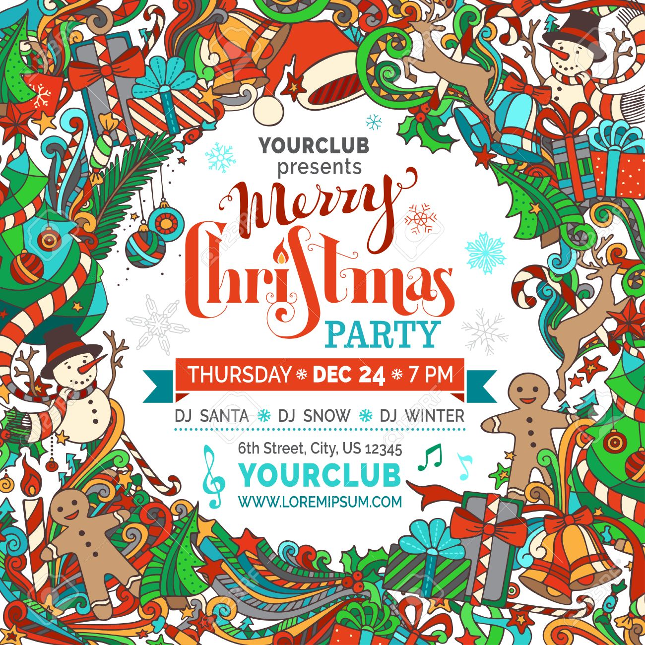 christmas party templates