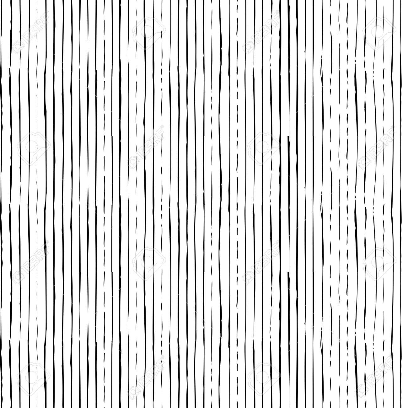 Vector seamless pattern of vertical thin brush strokes. Hand-drawn black brush flourishes on white background. Boundless background can be used for web page backgrounds, wallpapers and invitations. - 50177157