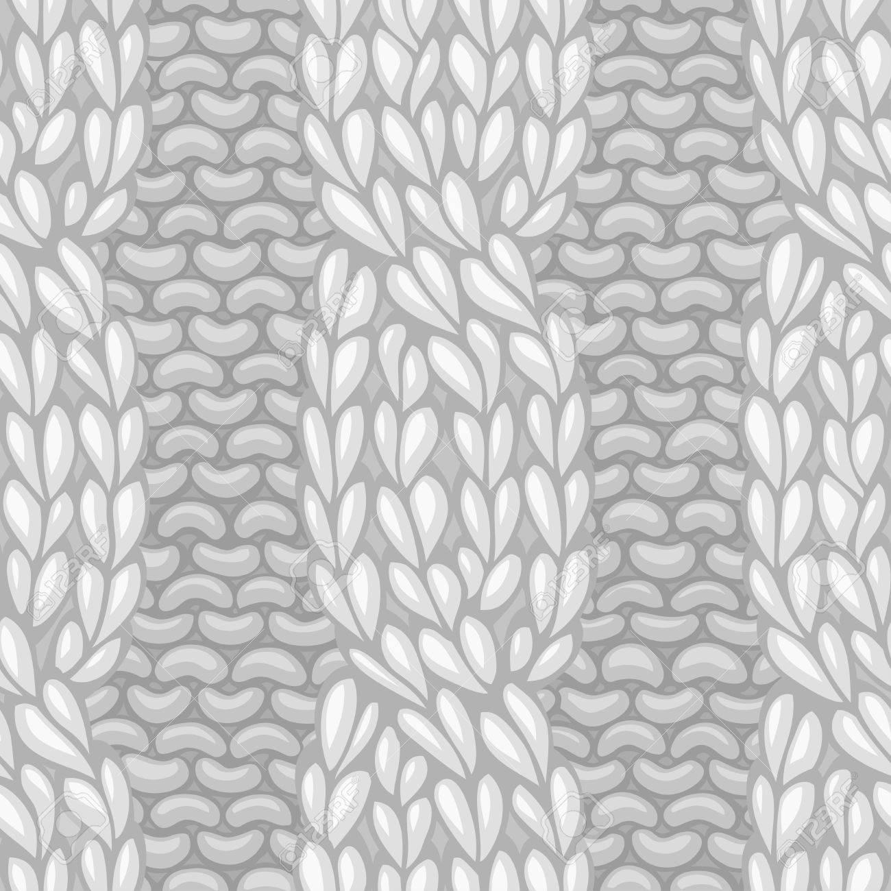 Patrón De Tejer Sin Fisuras. Cable De Torsión A La Textura De Tejer ...