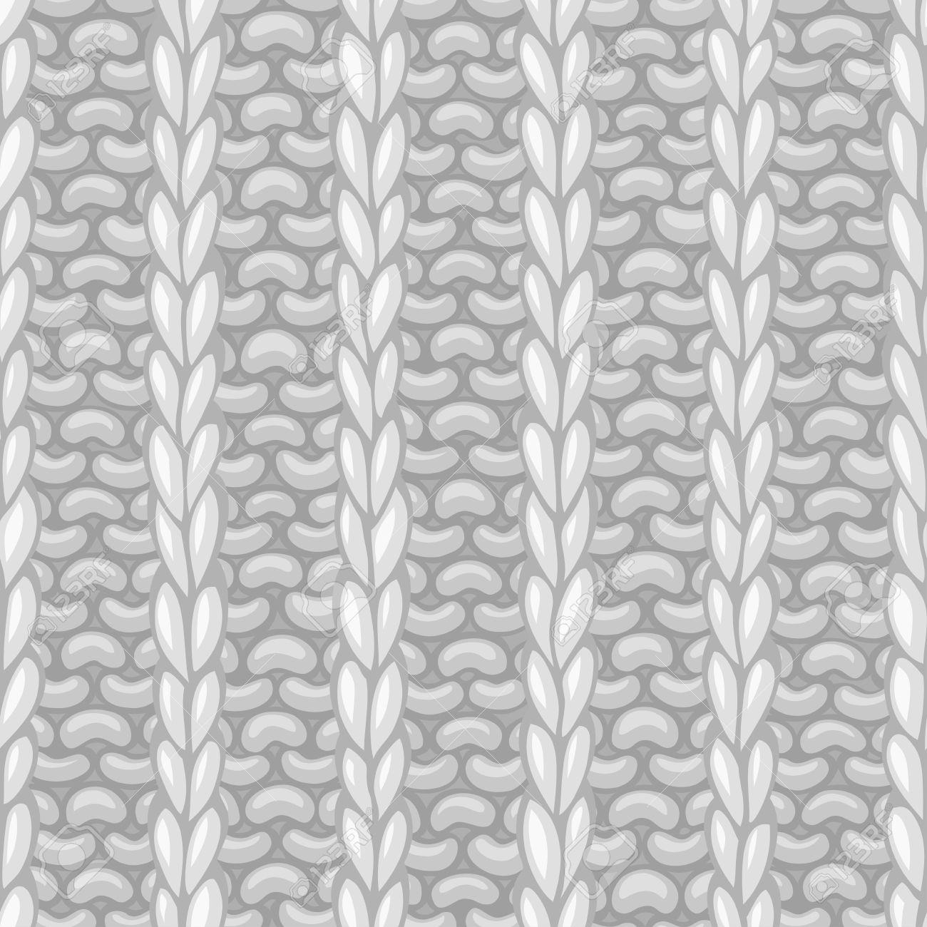 Vector Seamless Knitting Pattern. Rib Stitch 1x1 Texture. Vector ...