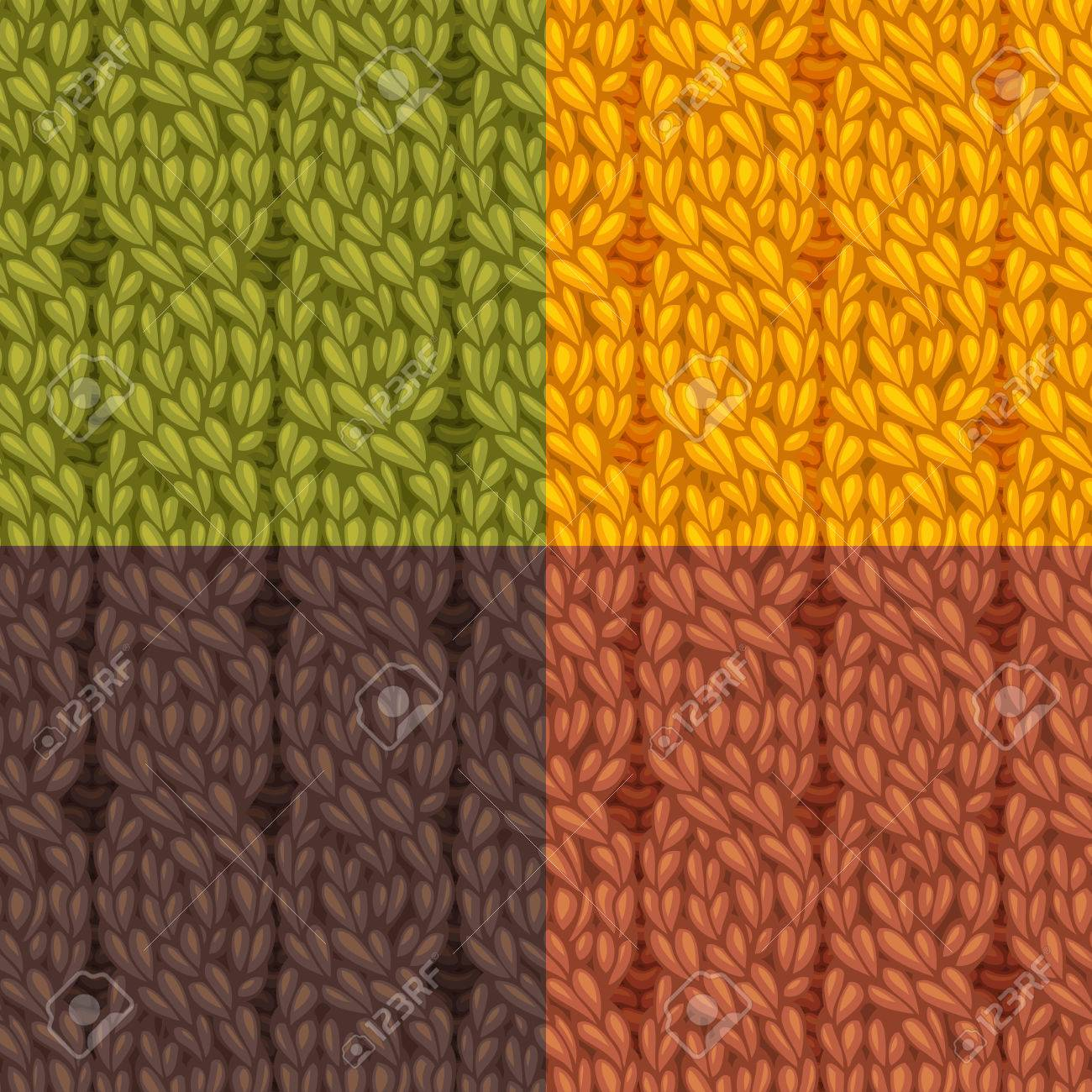 Seamless Knitting Pattern. Four-stitch Cables, Twisting To The ...