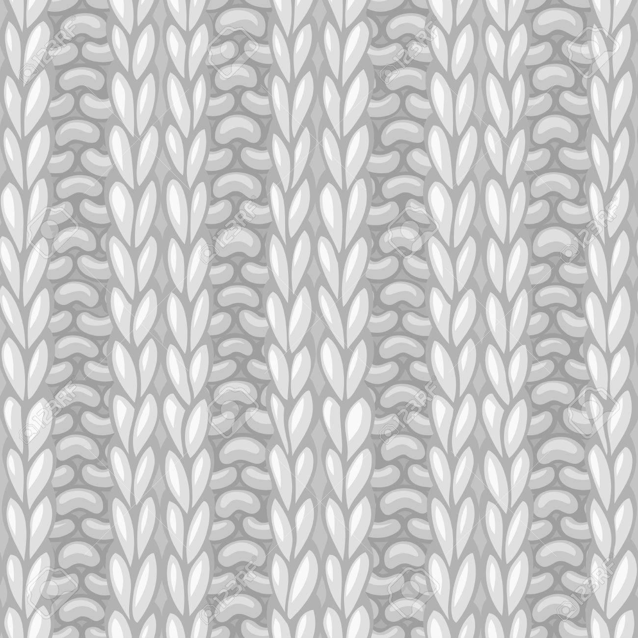 Seamless Knitting Pattern. 2x2 Rib Texture. Vector High Detailed ...