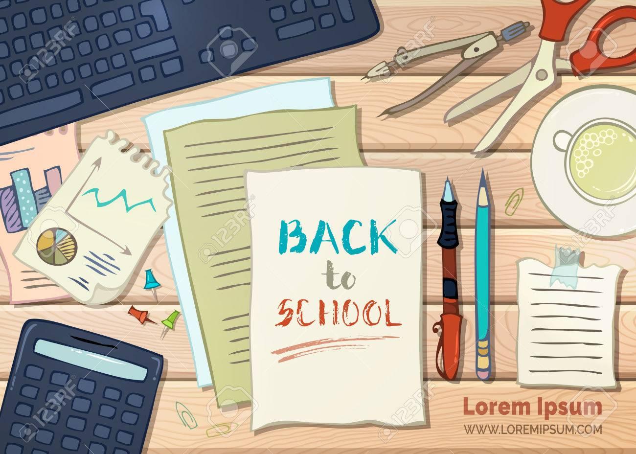 Volver A La Escuela De Fondo. útiles Escolares, Artículos De ...