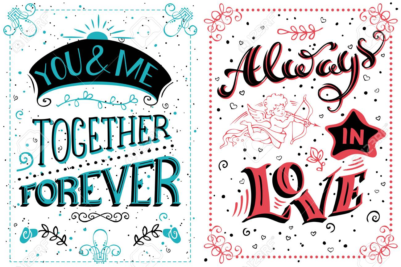 You And Me Together Forever Always In Love Romantic Quote