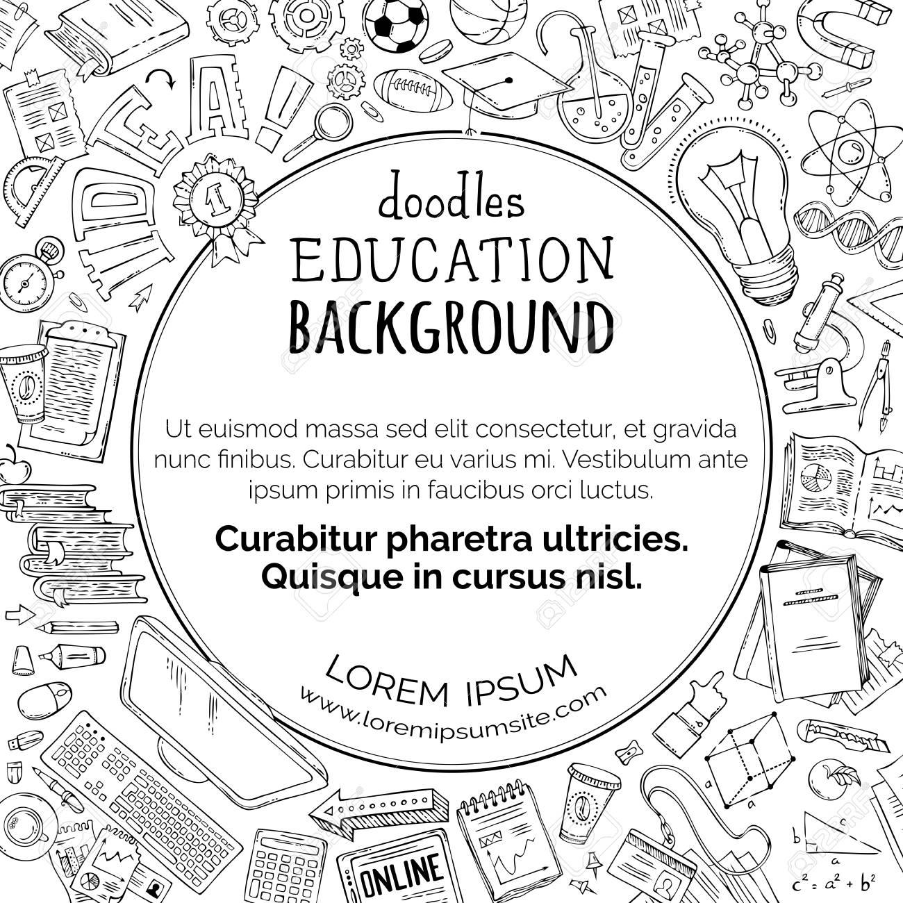 El Vector Doodles El Fondo De La Educación. Ciencia, Matemáticas ...