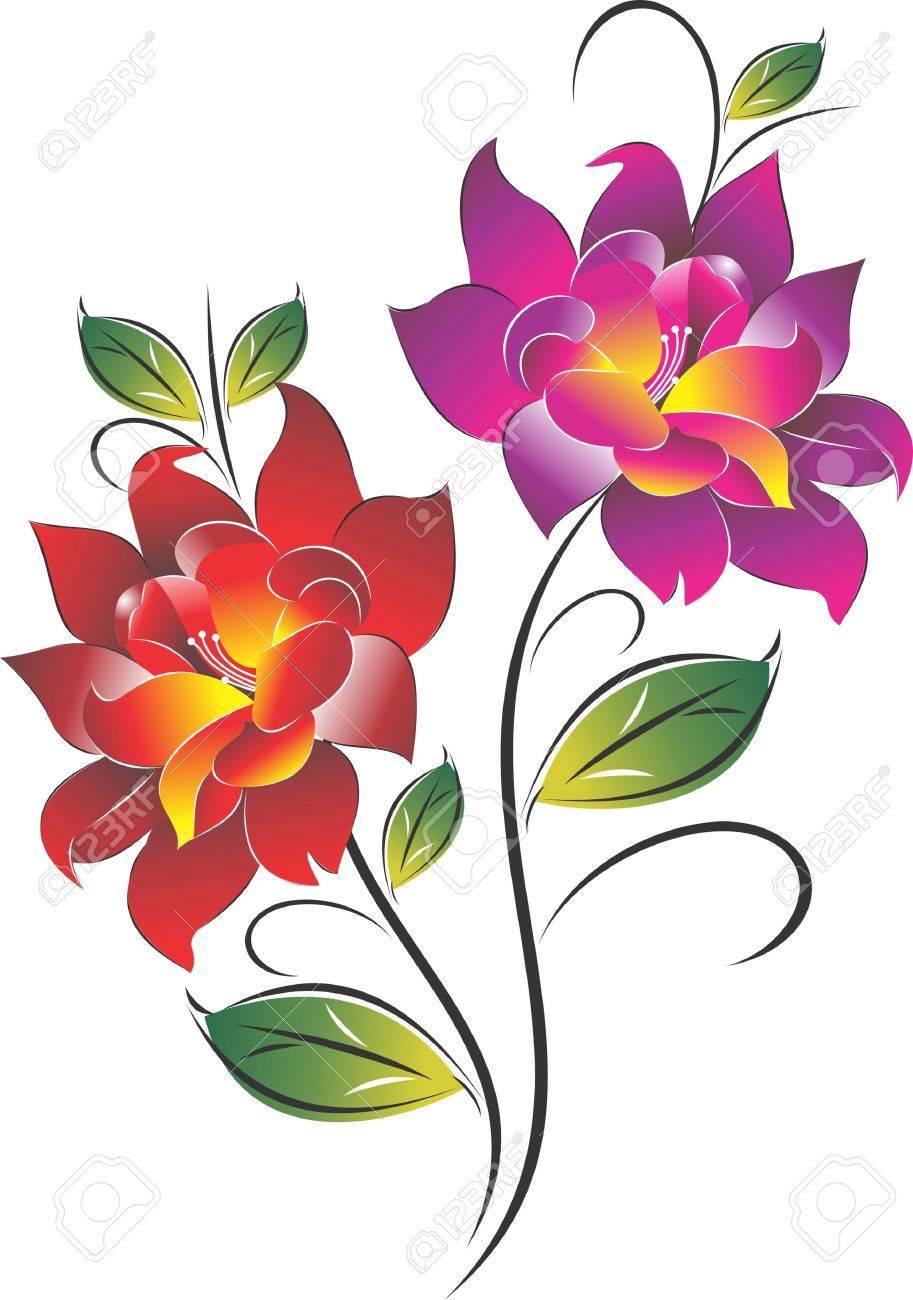 Flower Classic Stock Vector - 14342590