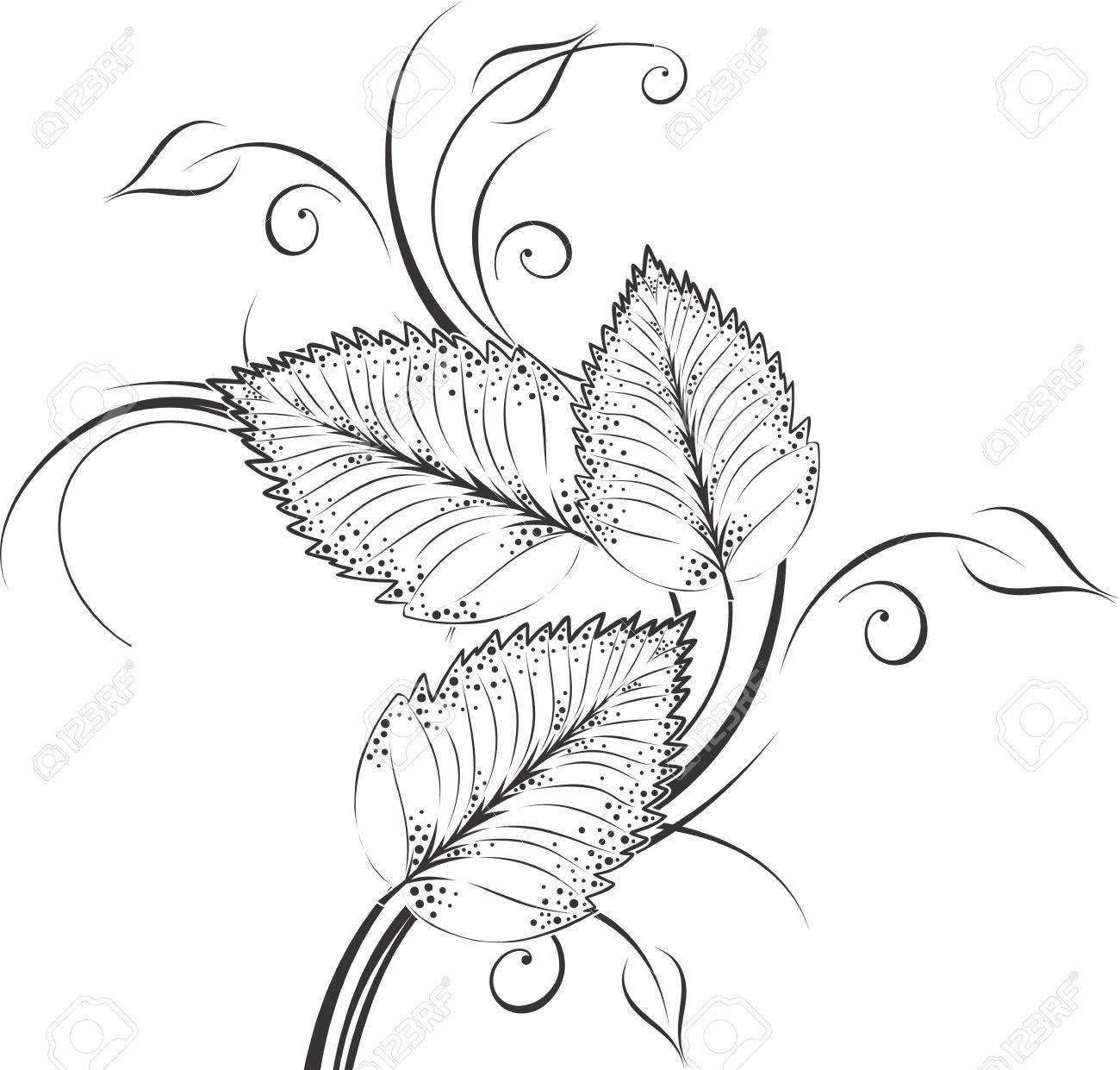 Vector Leaf Decoration Design Elements