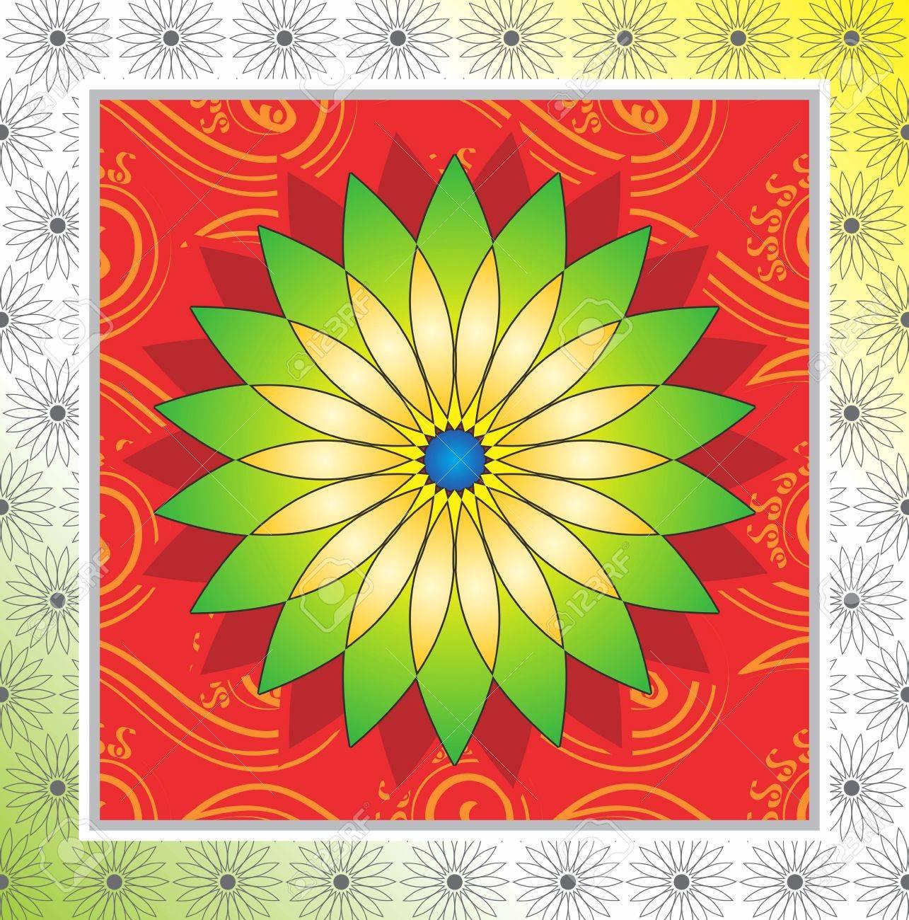 Flower frame design Stock Vector - 14618054