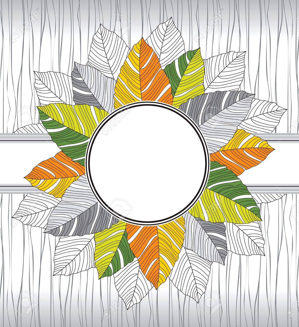 Banner of fancy leaves Stock Vector - 15576256