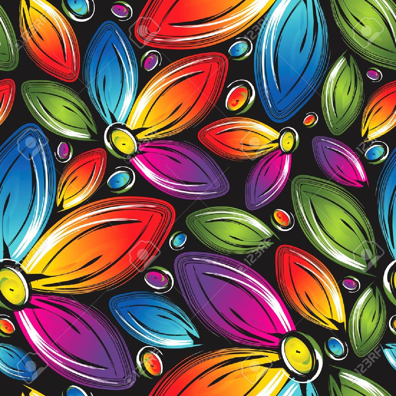 美しい花のシームレスな壁紙のイラスト素材 ベクタ Image 15928066