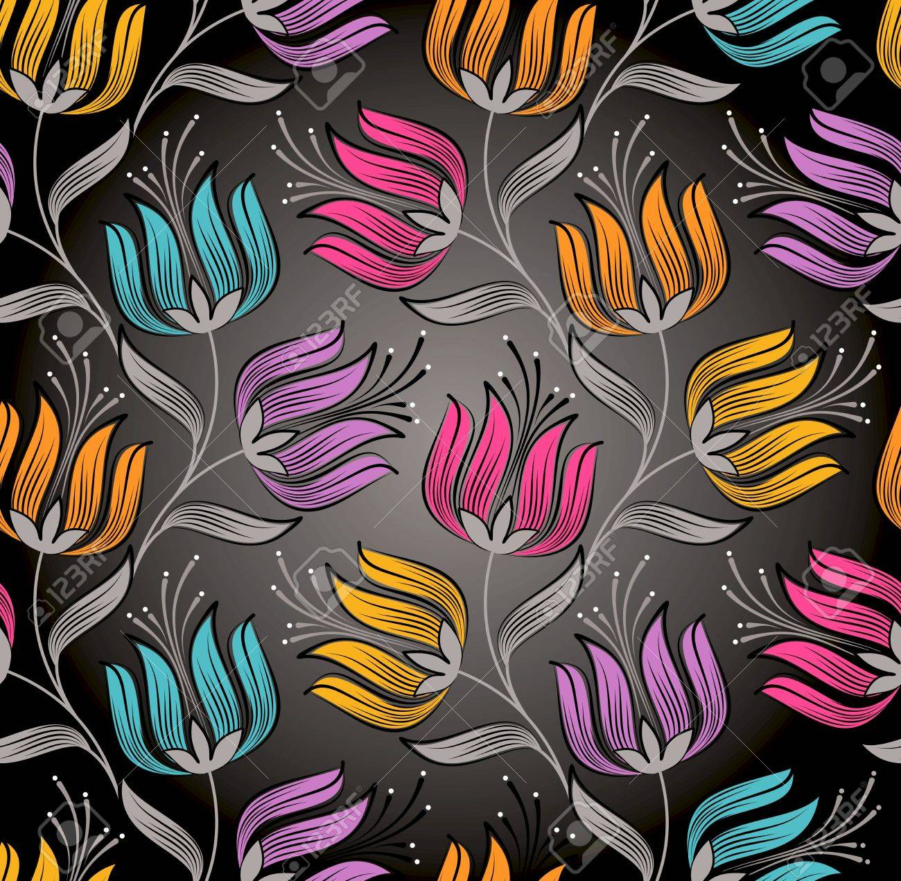 Seamless wallpaper of fancy flower Stock Vector - 15928062