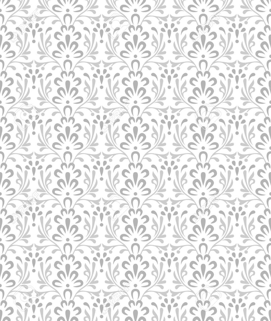 Fancy Silver Wallpaper Stock Vector