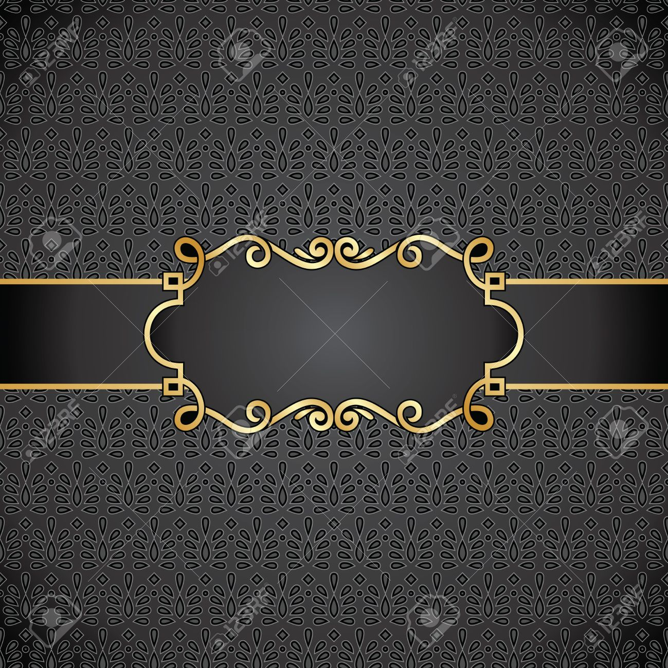 Royal black note book cover Stock Vector - 16884288