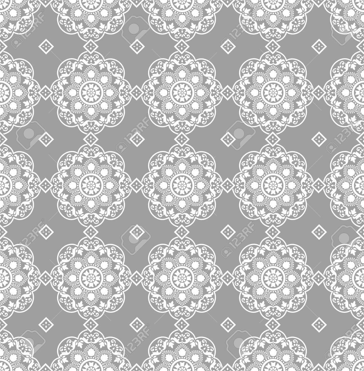 Silver seamless wallpaper Stock Vector - 16978198