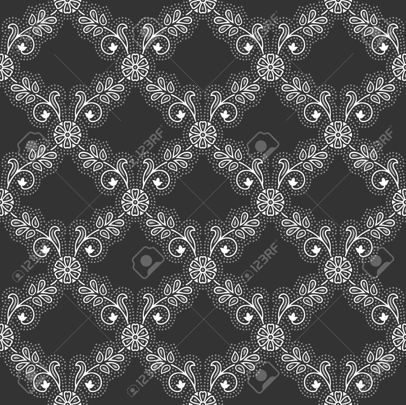 Seamless - Royal black wallpaper Stock Vector - 17513102