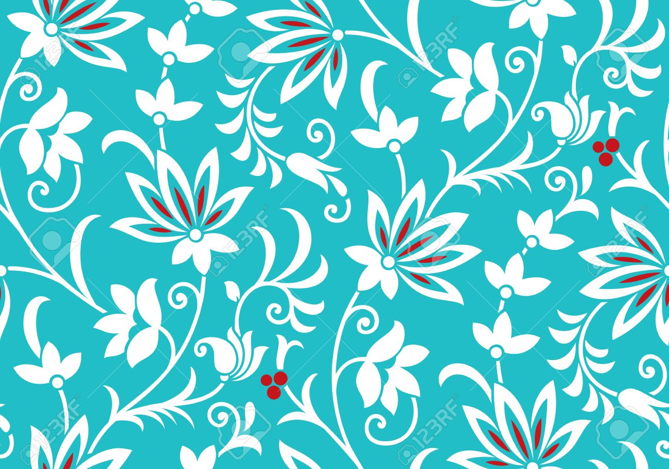 Fancy Floral Wallpaper Royalty Free Cliparts Vectors And Stock