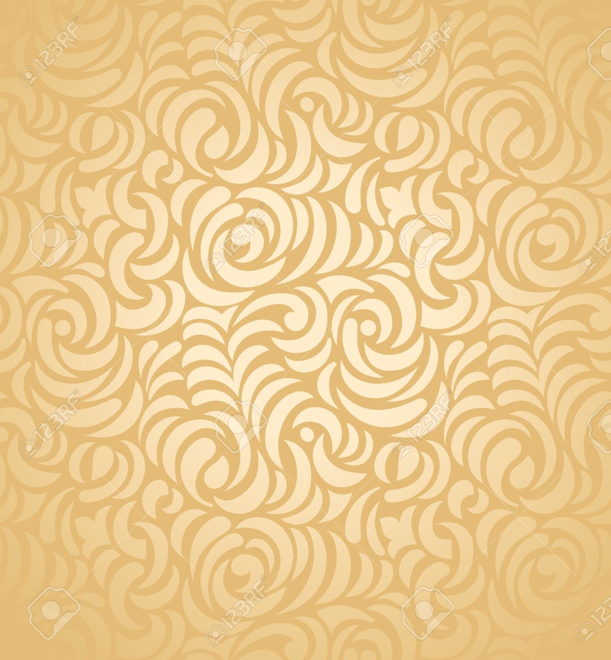 Seamless Golden Wedding Card Background Royalty Free Cliparts