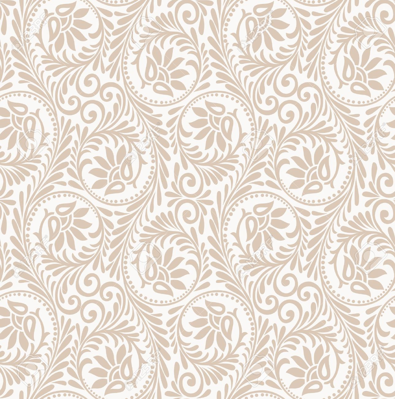 Floral Seamless Background Wallpaper Royalty Free Cliparts