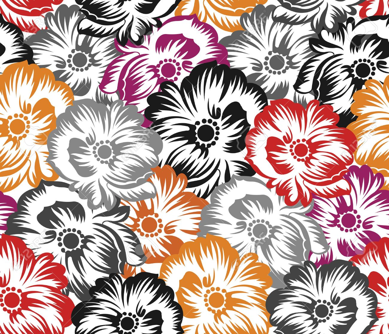 Bed sheet texture seamless - Seamless Floral Pattern Background Stock Vector 18437747