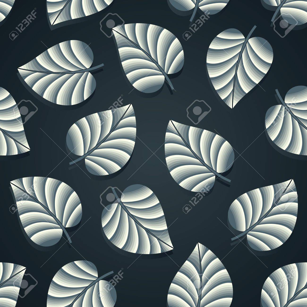 Black bed sheet texture - Royal Seamless Leaves Wallpaper Stock Vector 18553192